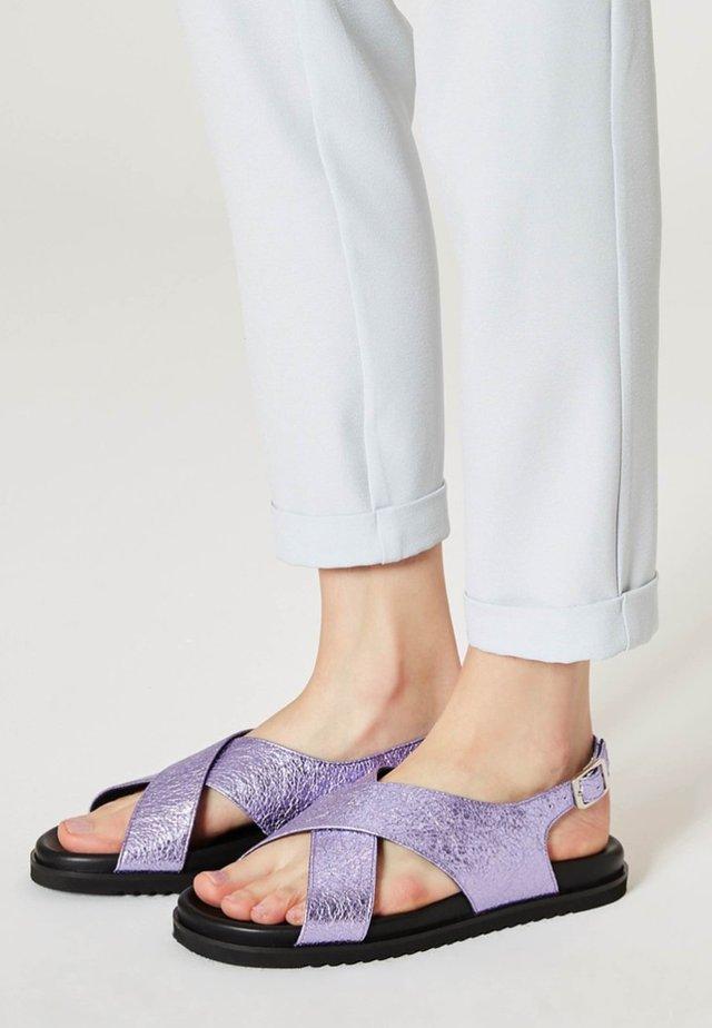 Sandalias - purple metallic