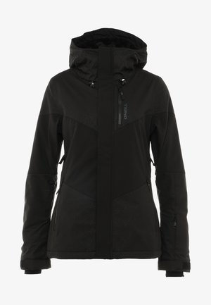 JACKET - Snowboard jacket - black/pink