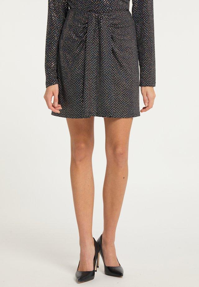 Mini skirt - holografisch schwarz