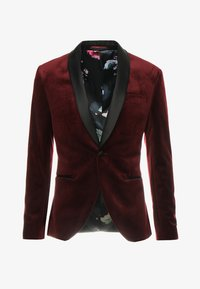 Isaac Dewhirst - FASHION PLAIN JACKET SLIM FIT - Blazer jacket - bordeaux - 6