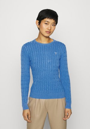 CABLE CREW - Strickpullover - pacific blue