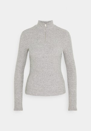 VMTAMMI ZIP - Stickad tröja - medium grey melange