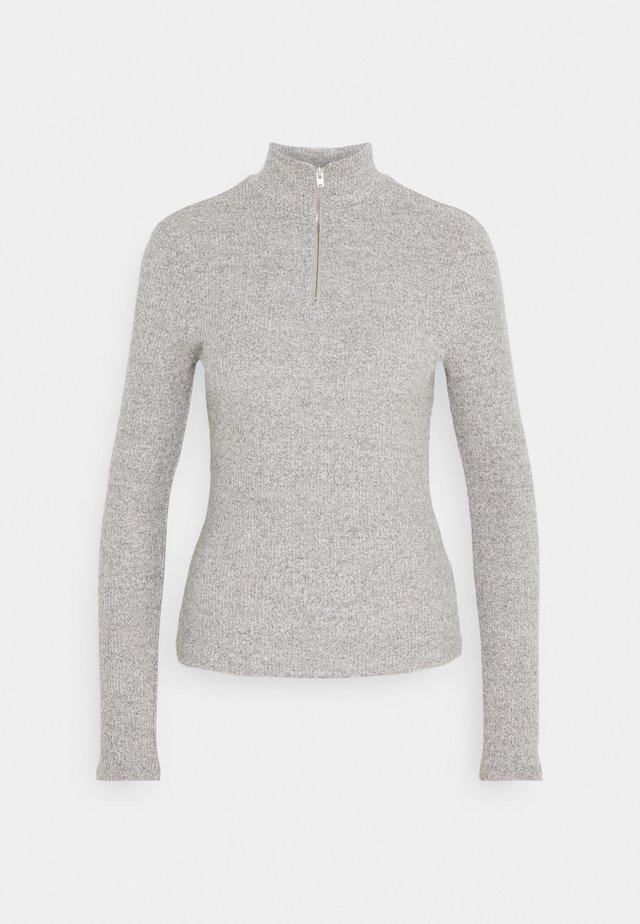 VMTAMMI ZIP - Stickad tröja - medium grey melange