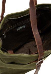 DreiMaster - DREIMASTER SHOPPER - Tote bag - oliv braun - 5