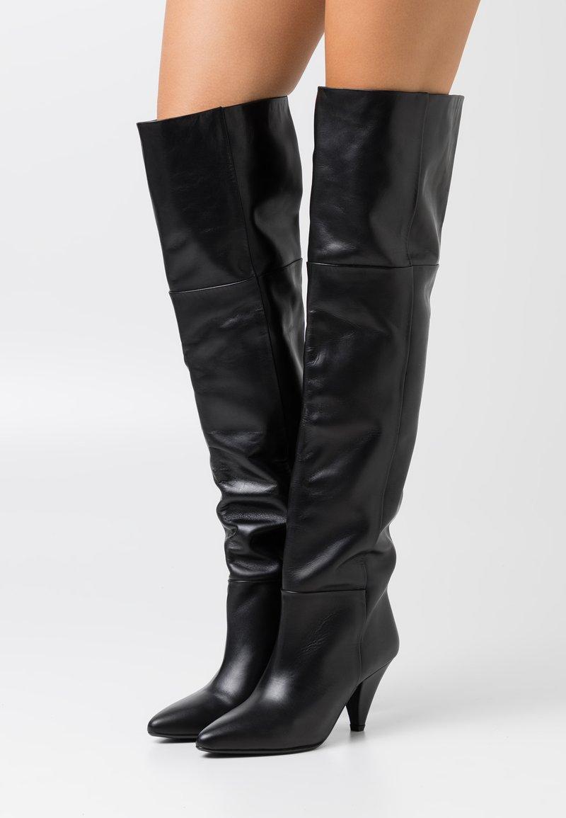 Samsøe Samsøe - MYRASSA BOOT  - Kozačky nad kolena - black