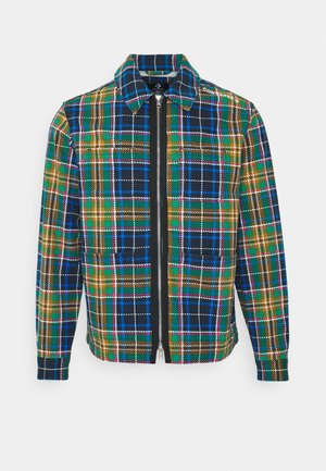 ALL OVER UTILITY ZIP FRONT SHIRT UNISEX - Summer jacket - tartan