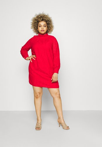 BRODERIE DRESS - Cocktail dress / Party dress - red