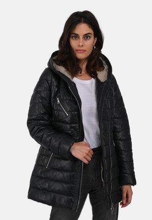 STEFFY - Leather jacket - midnight blue