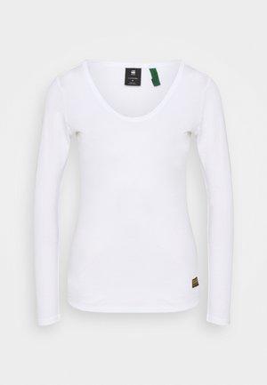CORE EYBEN SLIM U T WMN L\S - Long sleeved top - white