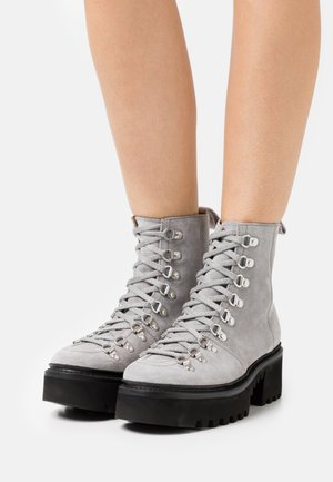 NANETTE - Lace-up ankle boots - light grey
