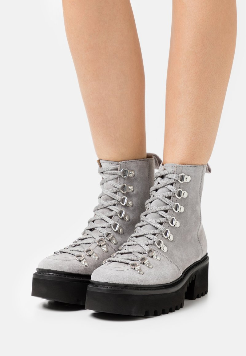Grenson - NANETTE - Stivaletti stringati - light grey