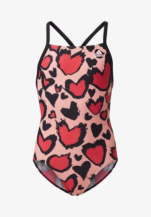 GIRLS HEART GRAPHIC SWIMSUIT - Swimsuit - pink