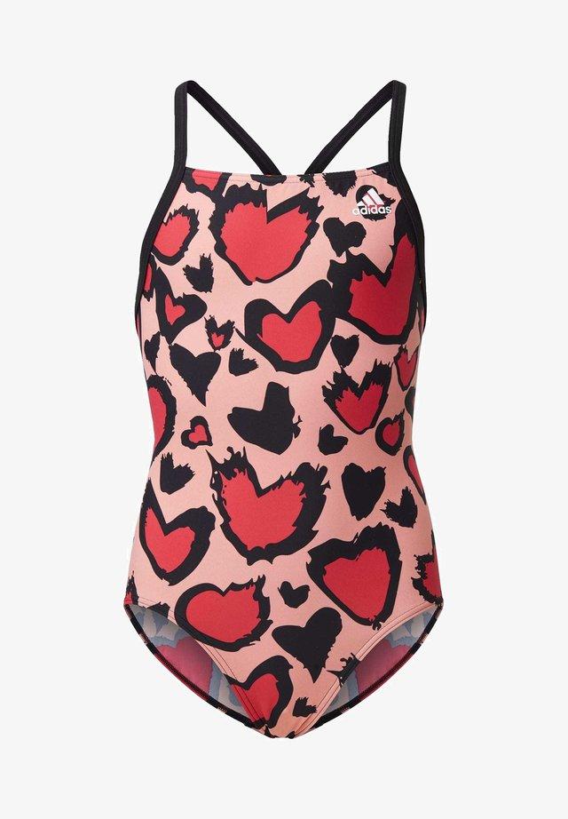 GIRLS HEART GRAPHIC SWIMSUIT - Maillot de bain - pink