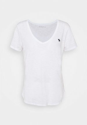 ICON VNECK TEE - Basic T-shirt - white