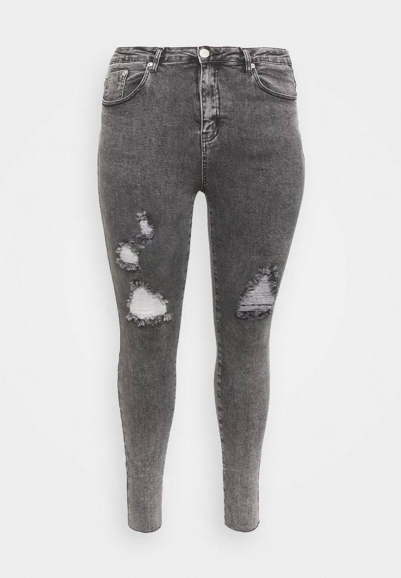 Glamorous Curve - RIPPED WREN - Jeans Skinny Fit - washed black