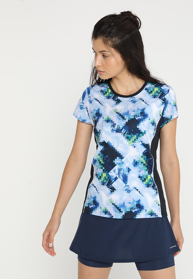 MIA - T-shirt con stampa - skyblue/black