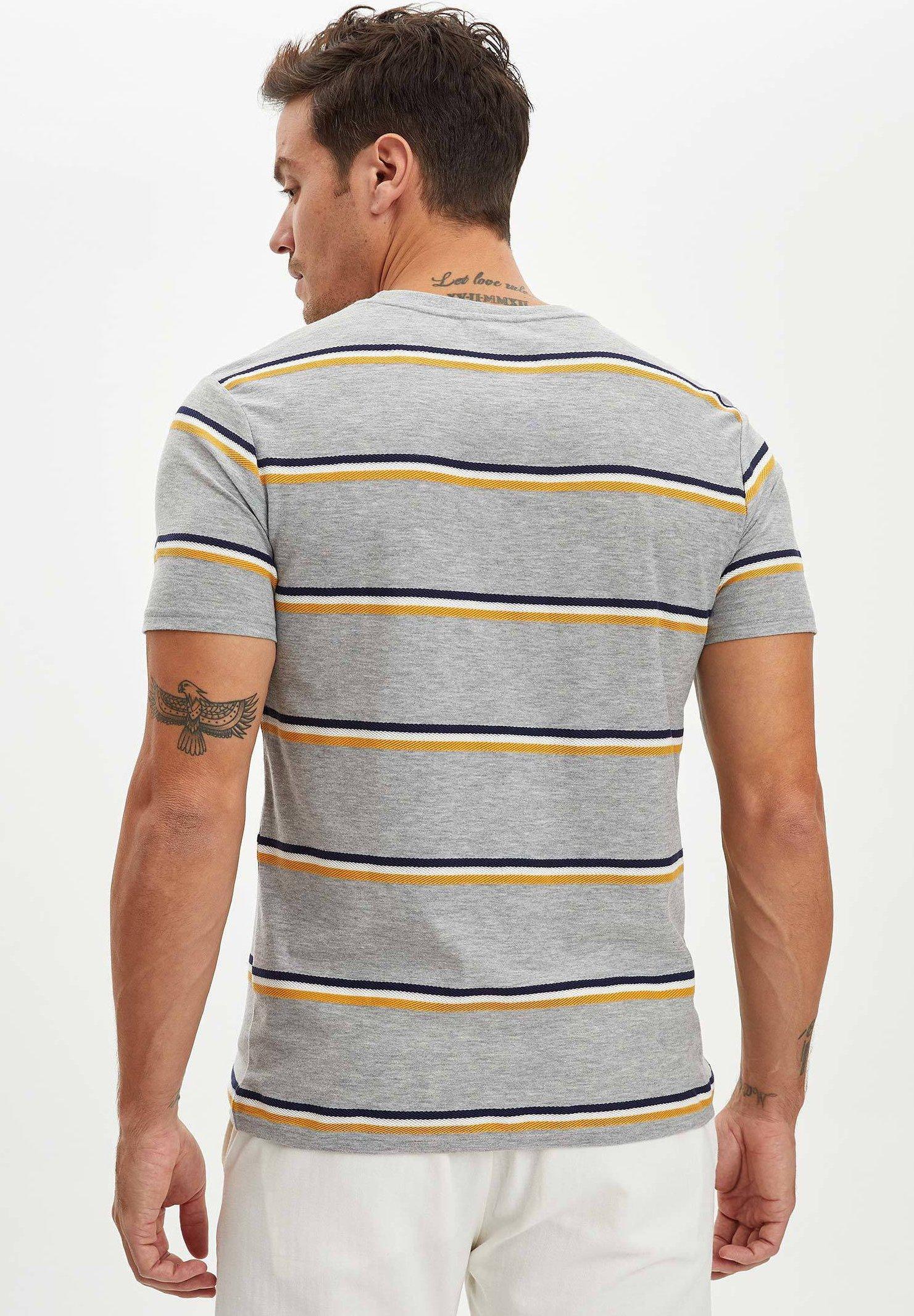 DeFacto Print T-shirt - grey 2YjZ0