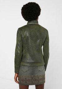 Desigual - BROWARD - Faux leather jacket - green - 2