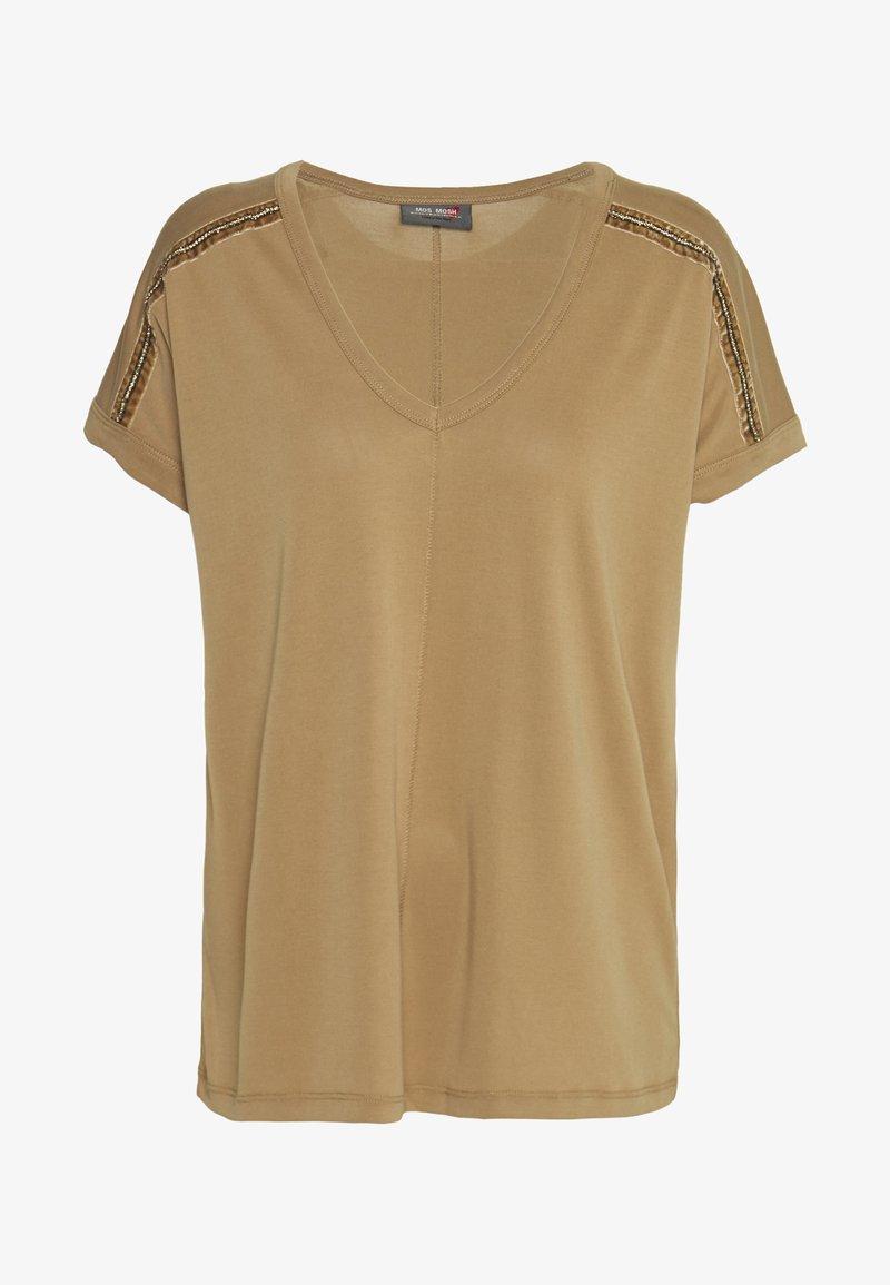Mos Mosh - LENNOX TEE - Print T-shirt - burro camel