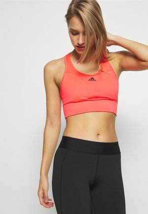 Medium support sports bra - pink/black