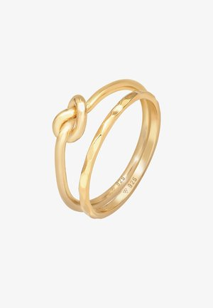 2 PACK BASIC KNOT - Ring - gold