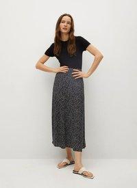 Mango - BOMBAY - A-line skirt - schwarz - 1