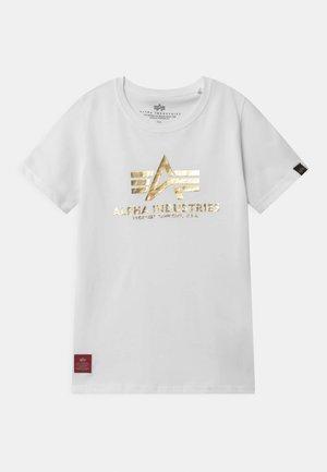 BASIC PRINT KIDS TEENS - Print T-shirt - white/yellow gold