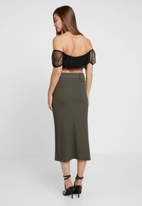 4th & Reckless - ARIANNA - Pencil skirt - khaki - 3
