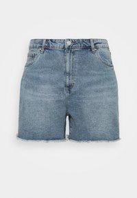Cotton On Curve - HIGH WAISTED - Denim shorts - brunswick blue - 5