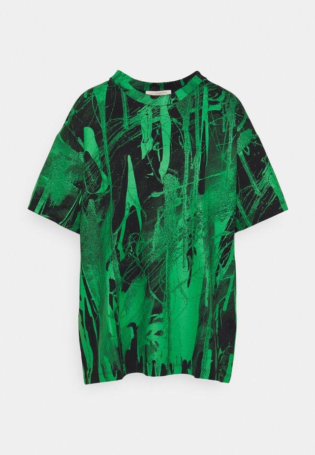 MINDSCAPE - Print T-shirt - black green