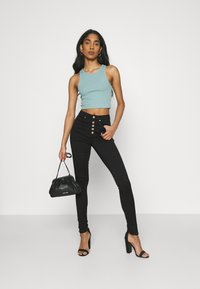 ONLY - ONLROYAL FLY GUA - Jeans Skinny Fit - black - 1
