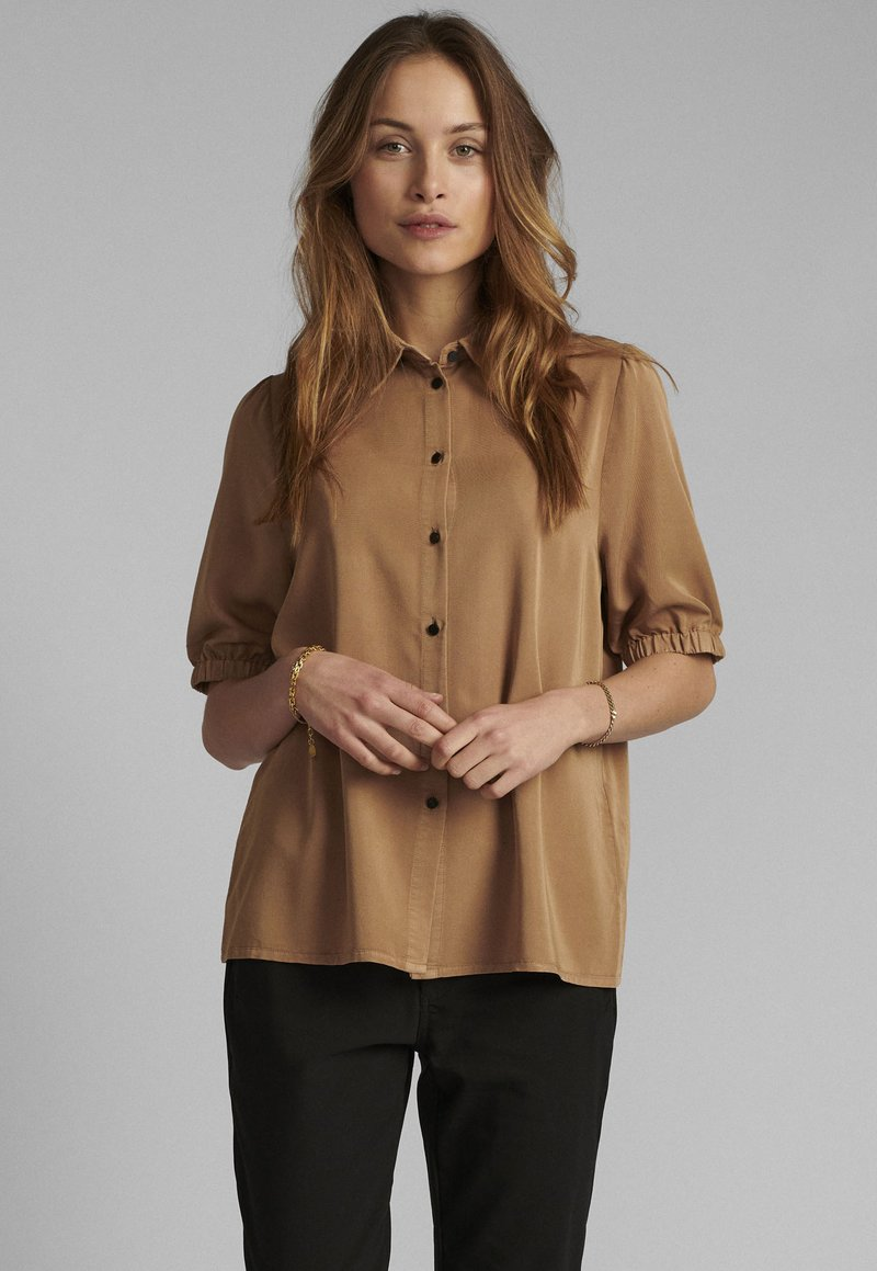 Nümph - Button-down blouse - tannin
