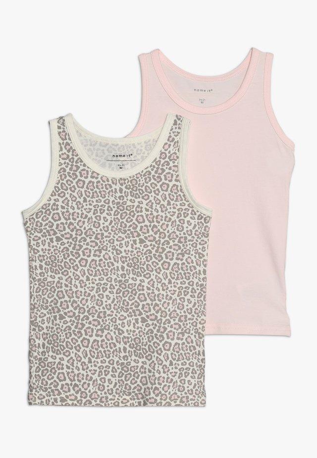 NMFTANK BARELY ANI 2 PACK - Unterhemd/-shirt - pink