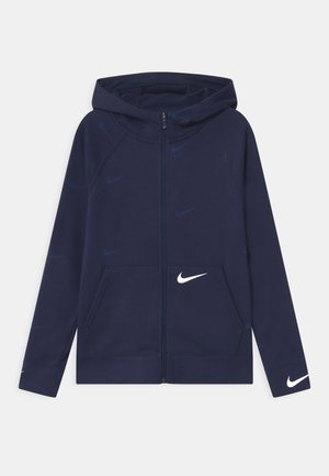 Zip-up hoodie - midnight navy/white