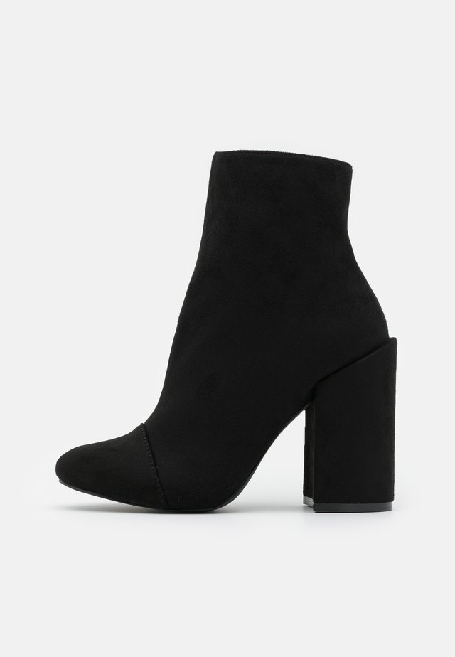 TOP UP WIDE FIT DOLLEY - High heeled ankle boots - black