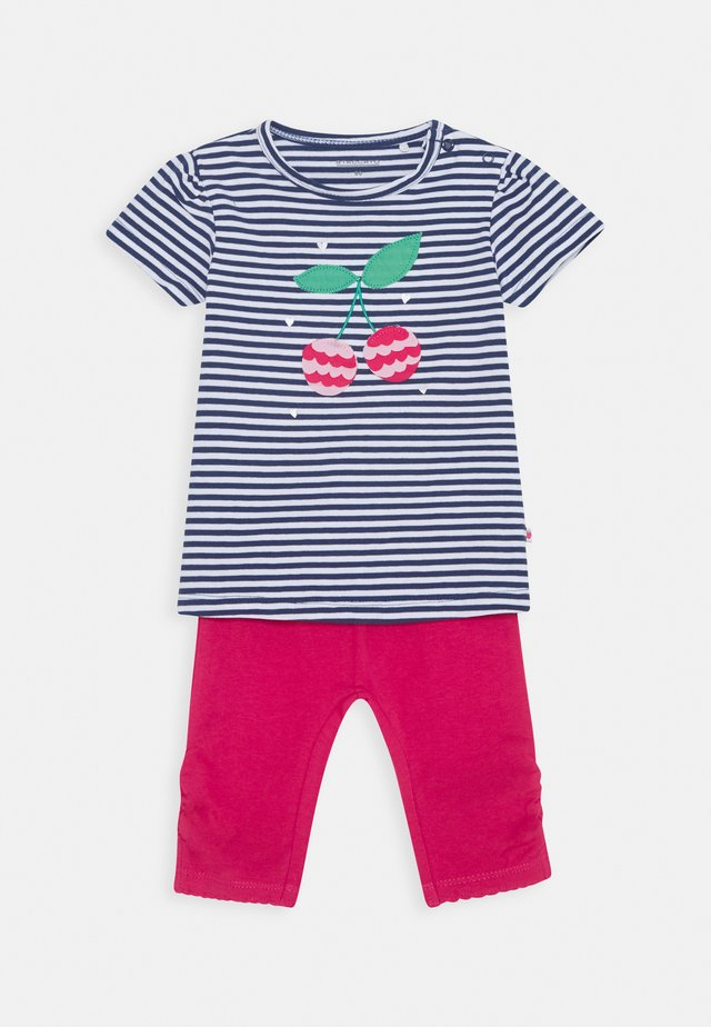 BABY SET - Leggingsit - dark blue/pink