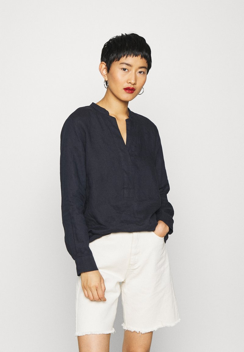 Marc O'Polo - BLOUSE LONG SLEEVED - Bluser - night sky