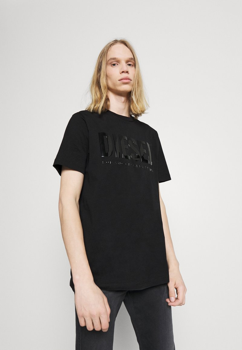 Diesel - JUST INLOGO UNISEX - Print T-shirt - black