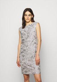 Lauren Ralph Lauren - DRESS - Denní šaty - taupe/zinc grey - 0