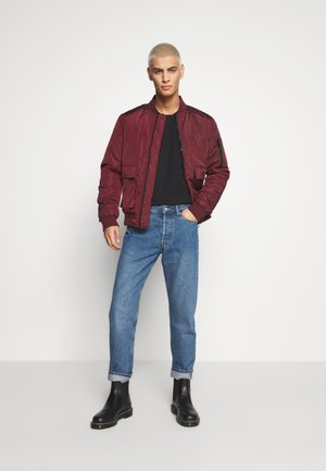BASEBALL JACKET - Giubbotto Bomber - burgundy