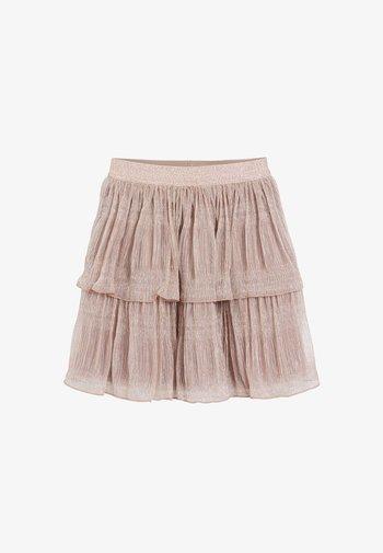 SPARKLE TIERED - Áčková sukně - pink