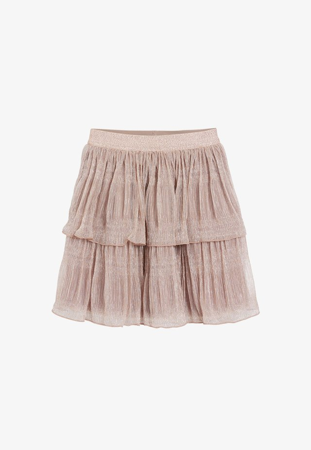 SPARKLE TIERED - A-line skirt - pink