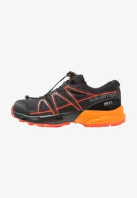 Salomon - SPEEDCROSS CSWP - Hiking shoes - black/tangelo/cherry tomato - 1