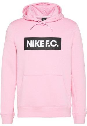 Felpa con cappuccio - pink/white/white