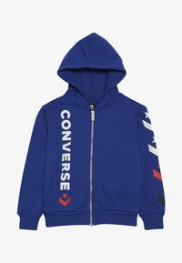 Converse - MULTI STAR CHEVRON FULL ZIP - Zip-up hoodie - blue - 2