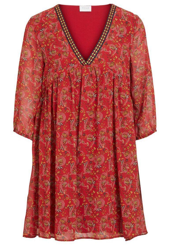 Vila Paisleymuster - Robe D'été Scarlet Sage