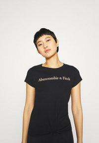 Abercrombie & Fitch - LOGO TEE - Print T-shirt - black - 4