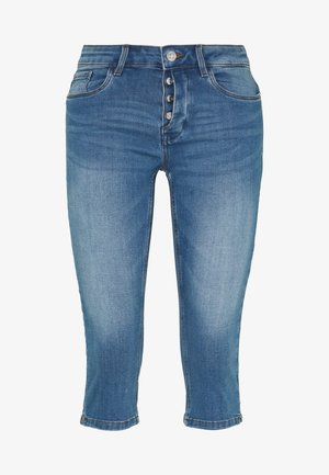 VMSEVEN BUTTON FLY  - Denim shorts - light blue denim