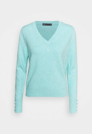 VEE JUMPER - Pullover - turquoise