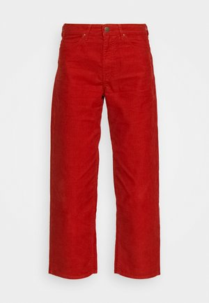 WIDE LEG - Trousers - red ocre